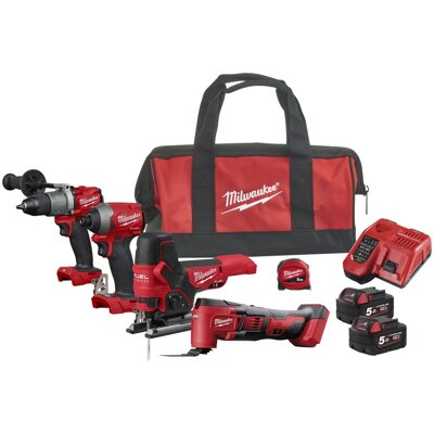 AKU set náradia Milwaukee M18  FUEL™ FPP4F2-502B